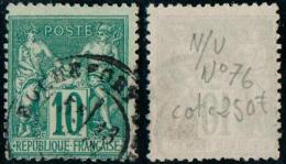 Sage N°76  - Obl. Rochefort - 1876-1898 Sage (Type II)