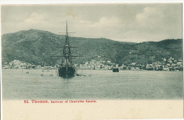 D.W.I. Danish West Indies St Thomas Harbour Of Charlotte Amelia Undivided Back - Vierges (Iles), Amér.
