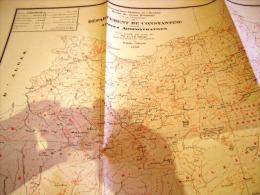 Carte Geographique Du Departement De Constantine.  Epoque Coloniale Francaise.1939 - Cartes Géographiques