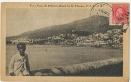 D.W.I. Danish West Indies St Thomas V.Islands  View From De Beltjen´s Road P. Used - Vierges (Iles), Amér.