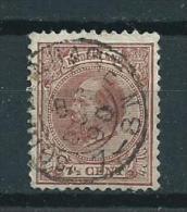 1888 Netherlands 7 1/2 Cent King Willem III Used/gebruikt/oblitere - 1852-1890 (Guillaume III)