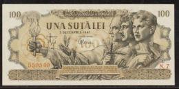 Romania 100 Lei 5.12.1947 F VF- Kingdom Banknote - Rumania