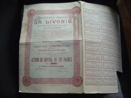 """Action\""""La Livonie\""""(Filature Et Tissage Textile)Gand Gent 1923. - Textile"""