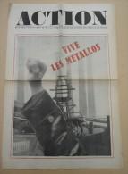 Histoire Politique Mai 68 - ACTION No 5 Du 6 Juin 1968 - Dessins Wolinski, Siné,  - - Journaux - Quotidiens