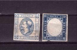 ITALY 1863  King Vittori Emanuele II Sassone Cat. N° 11-13  MINT Defectous - 1861-78 Vittorio Emanuele II