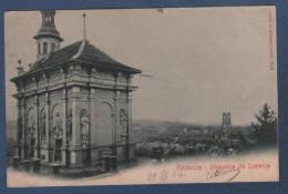 CP FRIBOURG - CHAPELLE DE LORETTE - EDITION PHOTOGLOB CO ZÜRICH N°106 - CIRCULEE EN 1902 - FR Fribourg