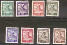 INDONESIA - 1954 Volcano Disaster Relief Set Of 8 MNH ** SG 668-75  Sc B69-76 - Indonesia