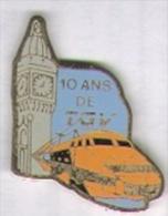 10 Ans De TGV . Le TGV (dos Lisse) - TGV