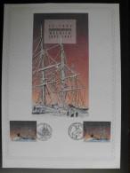 België Belgium 1997 - Schip ´Belgica´ - Antarctica Belgica 1897-1997 Herdenkingskaart Met 2 Speciale Stempels / Ship - Navires & Brise-glace