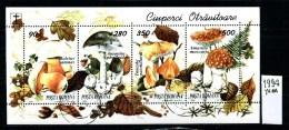 ROMANIA - Foglietto - Year 1994 - Timbrato -stamped -affranchiè -gestempelt. - Pilze