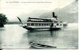"""N°38121 -cpa Lac Annecy -le Nouveau Bateau """"France"""" - Bateaux"""
