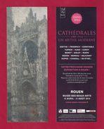 """Marque Page.    ROUEN, Expo """"Cathédrales"""",   Musée Des Beaux-Arts 2014. - Marque-Pages"""