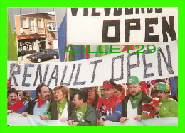 SYNDICATS - VILVOORDE, BELGIQUE - FERMETURE USINE RENAULT INDUSTRIE, 1997 - PHOTO, R. CHERVET - TIRAGE 150 Ex - - Syndicats