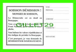 SYNDICATS - JEAN-PIERRE SOISSON DÉMISSION ! - CONSEIL RÉGIONAL DE BOURGOGNE, DIJON (21) - - Syndicats