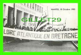 SYNDICATS  - MARCHE DE CLÔTURE QUINZAINE D´ACTION UNITÉ ADMINISTRATIVE BRETAGNE - NANTES, 1980 - - Syndicats