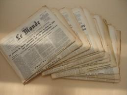 Lot De 12 Numéros Du MONDE  Du 15 Mai 1968 Au 12 Juin 1968 - Evenements Mai 68 - Journaux - Quotidiens
