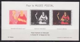 Pour Le Musée Postal, étapes Impression Taille Douce N°1479 De Le Nouveau Né De Georges De La Tour - Blocs & Feuillets