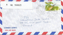 Belize 1997 Corozal Town Dobson Fly Insect $2 Barcoded Registered Cover - Belize (1973-...)