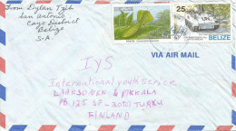 Belize 1996 San Antonio Handfilled Date Mantis Insect 50c Peacekeeping 25c Cover - Belize (1973-...)