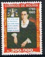 4303 - Bolivia 1985 - THe 200th Anniversary Of The Birth Of Vicenta Juaristi Eguino, Independence Heroine Used - Bolivia
