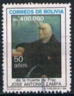 4303 - Bolivia 1986 - The 50th Anniversary Of The Death Of Friar Jose Antonio Zampa Used - Bolivia