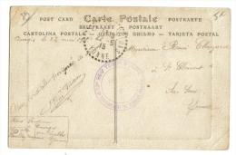 Cachet 33 ème  Regiment Infanterie Détachement Courgis 89 Auxerre Les Quais - Poststempel (Briefe)