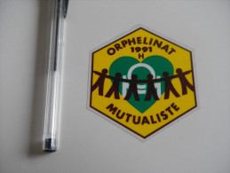 Autocollant - ORPHELINAT MUTUALISTE 1991 (protection Enlevée) - Autocollants