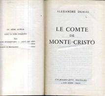 Alexandre Dumas Le Comte De Monte Cristo Calamnn Levy 1952  Sur Papier Bible - Livres, BD, Revues
