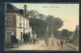 49 - JARZE : Route De Baugé Machine à Vapeur Pour Batteuse, Belle Animation - Sonstige Gemeinden