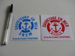 Autocollant - SNSM - SAUVETAGE EN MER - PARIS X2 - Stickers