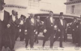 Expo Internationale De Lyon 1914 : Présidents LOUBET Et EDOUARD HERRIOT +vignette - Exhibitions