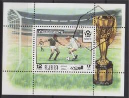 = Bloc 1 Timbre Fujeira Oblitéré - Fußball-Weltmeisterschaft