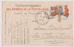 LA FLOCELLIERE : CARTE MILITAIRE ECRITE EN 1915 PAR M. CHALET A MME RABREAU -R/V- - France