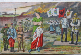 Italy, WW1, Choosing Between Central Powers And Entente, Weighing Whom To Join, Political Propaganda, Patriotic, - Satiriques