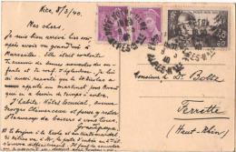 CPA Carte Postale Voyagé NICE Côte D´Azur Le Palais De La Jetée Expédié 1940 Vers FERRETTE (Haut-Rhin) - Monuments, édifices