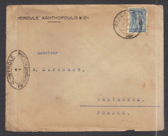 GRECE 1914/1918 Usages Courants Obl. S/enveloppe Censure Militaire Française - Cartas