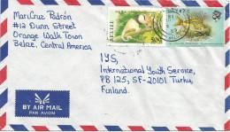 Belize 1989 Orange Walk Ant Bear 50c Yellow Tail Snapper Fish $1 Cover - Belize (1973-...)