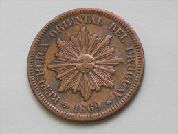 2 Centesimos 1869 A- URUGUAY - Républica Oriental Del Uruguay **** EN ACHAT IMMEDIAT **** - Uruguay