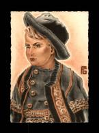 29 - ELLIANT - Costumes - Coiffes - Carte Illustrée Par Géo Fourrier - Elliant