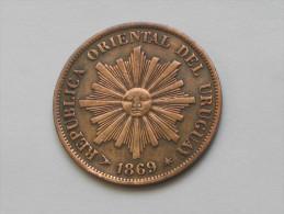 1 Centesimo 1869 H  URUGUAY - Républica Oriental Del Uruguay **** EN ACHAT IMMEDIAT **** - Uruguay