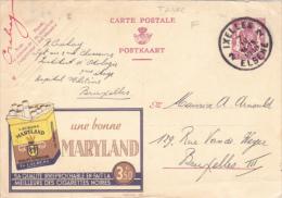 MARYLAND CIGARETTES,ADVERTISEMENT 1939 VERY RARE POSTCARD STATIONERY BELGE - Enteros Postales