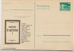 "ESPERANTO GOETHE ""FAUST I""  DDR P 84-12-82 C10 Postkarte Zudruck Leipzig ** 1982 - Esperanto"