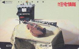 Télécarte Japon / 7-11 - 4018 - Musique : PIANO VIOLON CLARINETTE - Music Japan Phonecard - Musik - Muziek
