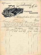 FACTURE Ou LETTRE :NEDERVEEN Cie / Fabrikanten Margarine  Hertogenbosh  Hollande  1906 - Frankreich