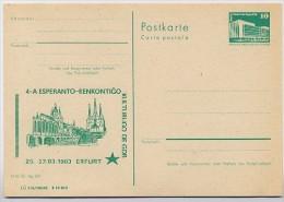 ESPERANTO DOM ERFURT DDR P84-5-83 C17 Postkarte Zudruck 1983 - Esperanto