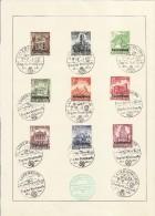 Occupation - FDC - Serie De 9 Valeurs - 12-1-1941 - 1er Jour - Besetzungen