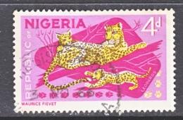 NIGERIA 189   (o)   FAUNA  AFRICAN  LEOPARD  AND  CUBS - Nigeria (1961-...)