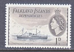 FAKLAND  ISLANDS  1L 20  *   ICE SAILING  SHIP - Falkland Islands