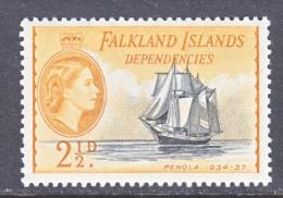 FAKLAND  ISLANDS  1L 23  *   ICE   SAILING  SHIP - Falkland Islands