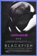 MOVIE FILM ADVERTISMENT POSTER POSTCARD For The FILM   BLACKFISH - Manifesti Su Carta
